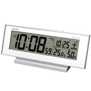 セイコー(SEIKO)温湿度表示付きデジタル電波クロック置き時計 SQ762W:掛け時計専門店/