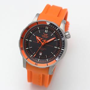 ボストーク・ヨーロッパ/アンチャール/Submarine チタニウムモデル/自動巻き/メンズ/腕時計/8215-5107173(オレンジ)