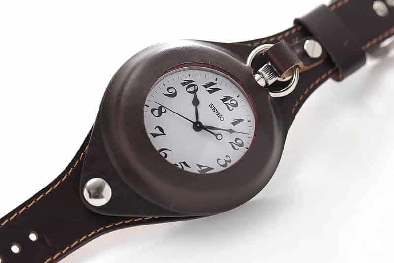 懐中時計用 腕時計レザーベルト