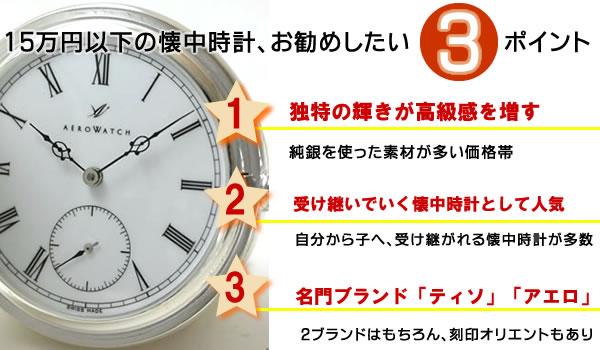 懐中時計の名門が揃う懐中時計