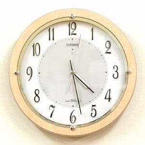 CITIZEN シチズン 電波掛け時計 サイレントソーラー【グリーン購入法適合商品】 【4my798007】
