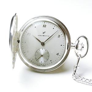 アエロ/AERO/ハンターケース/手巻き式/銀無垢/55650A905