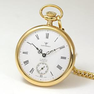 84d27e794a CATOREX(カトレックス)/懐中時計/手巻き式/オープンフェイス/ゴールドカラー/1824.6