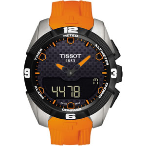 TISSOT(ティソ) Tタッチ(T Touch)エキスパート(Expert) ソーラー T091.420.47.051.01 オレンジラバーベルト