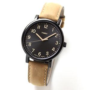 TIMEX(タイメックス)腕時計/モダンイージーリーダー ブラックサンレイダイアル オイルドレザー【T2N677】