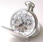 エポス(EPOS)両開き懐中時計 スケルトン