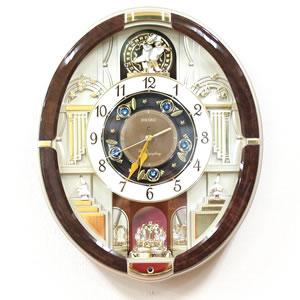 SEIKO セイコー 電波からくり掛け時計 【RE571B】