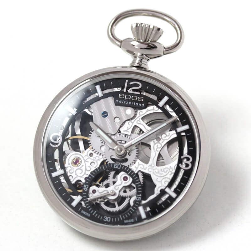 f324318ac9 エポス(EPOS) フルスケルトン懐中時計2003abk
