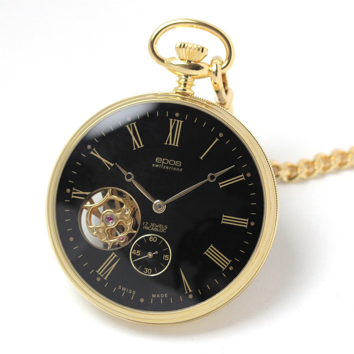 エポス/epos/シースルーバック/2090GPBK 懐中時計