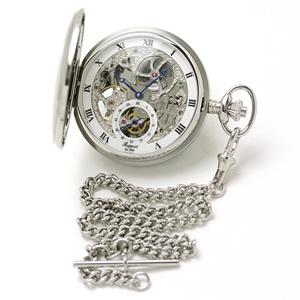 ラポート(Rapport) 両開き スケルトン PW45 懐中時計