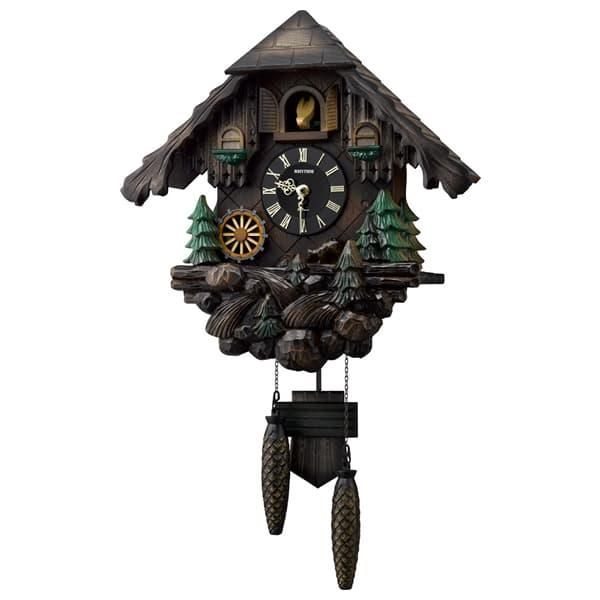 RHYTHM リズム 木製 カッコー 掛け時計 カッコーヴァルト 4MJ422SR06