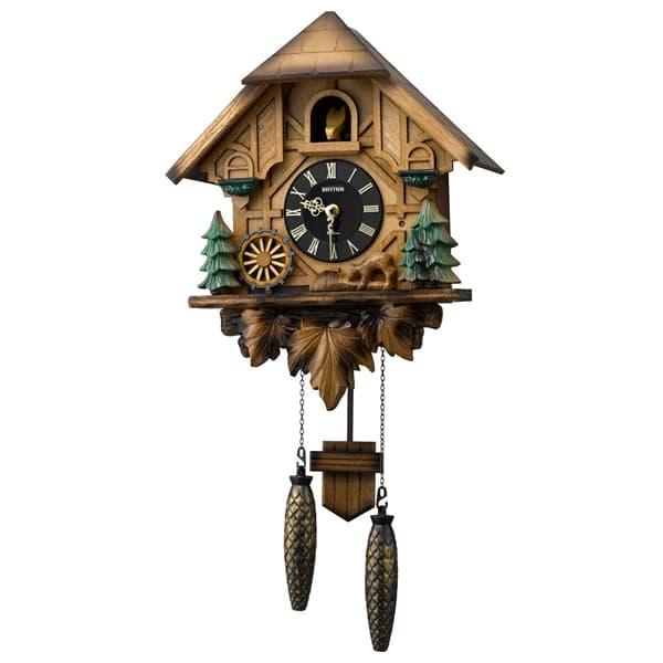 RHYTHM リズム 木製 カッコー 掛け時計 カッコーティンバー 4MJ423SR06