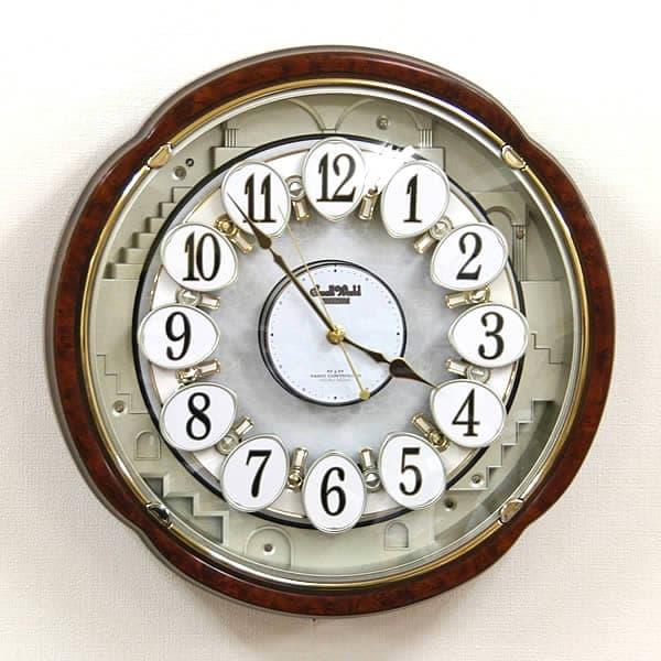 シチズン/リズム 電波からくり掛け時計スモールワールドコンベルS【4mn480rh23】