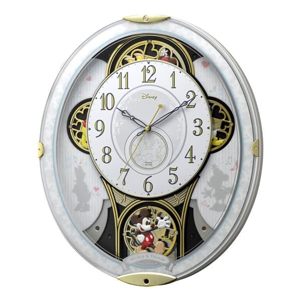 RHYTHM リズム ディズニーキャラクター 電波 からくり 掛け時計 ミッキー&フレンズM509 4MN509MC03