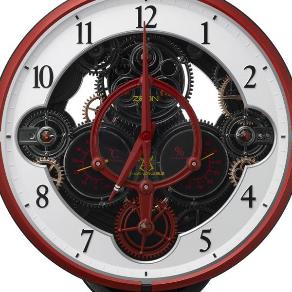 RHYTHM リズム シャア専用デザインモデル 電波 からくり 掛け時計 KARAKURI CLOCK CHAR'S CUSTOM ZEON 4MN534MG01 パフォーマンス�