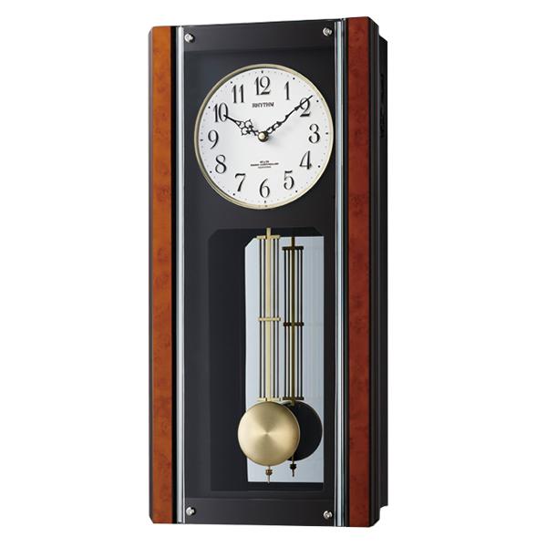 RHYTHM リズム 報時付き 電波 掛け時計 イルレガロR 4MNA04RH06