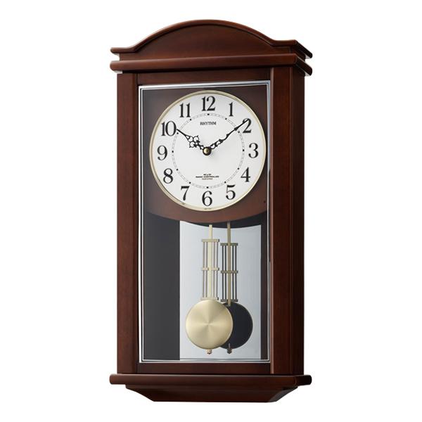 RHYTHM リズム 報時付き 電波 掛け時計 セントルイスR 4MNA05RH06