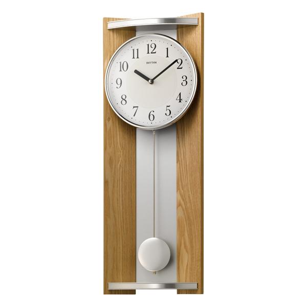 RHYTHM リズム 木製 掛け時計 モダンライフM05 4MPA05RH07 薄茶色