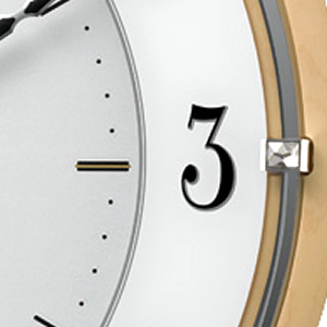 citizen シチズン掛け時計 4MY837-006 スワロフスキーの留め飾り