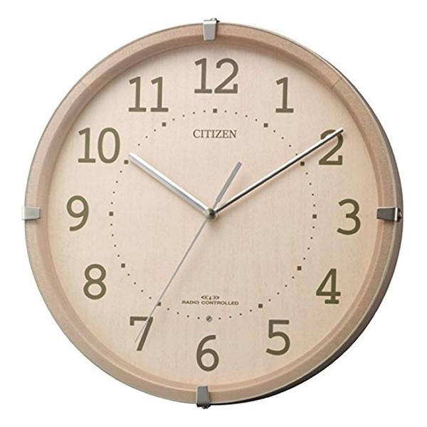 CITIZEN シチズン 木製 電波 掛け時計 シンプルモードアークミニ 4MYA27013 ピンク