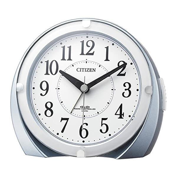 CITIZEN シチズン 電波 目覚まし時計 ネムリーナマロンF 4RL431N04 青メタリック