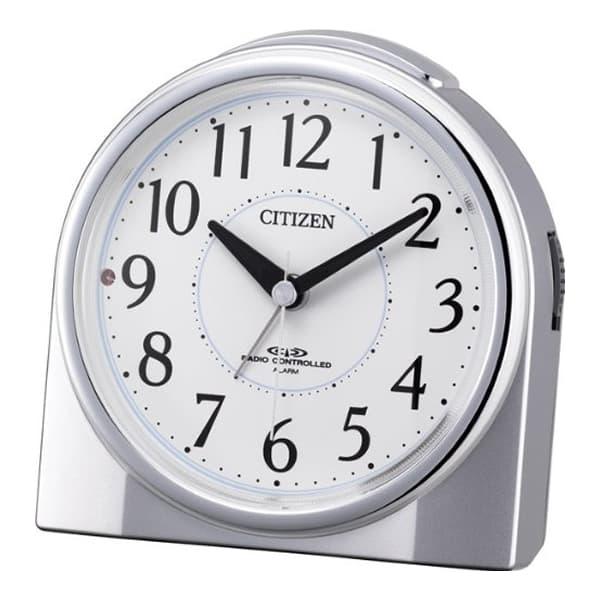 CITIZEN シチズン 夜光 電波 目覚まし時計 ネムリーナリング 4RL432019 シルバーメタリック