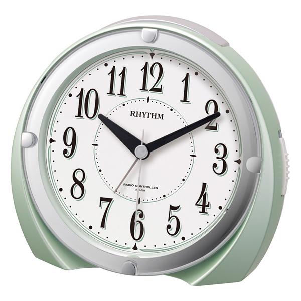 RHYTHM リズム 電波 目覚まし時計 フィットウェーブA436 4RL436SR05 緑パール