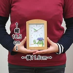 となりのトトロオルゴール目覚まし時計 サイズ 縦16.5cm×横11.6cm