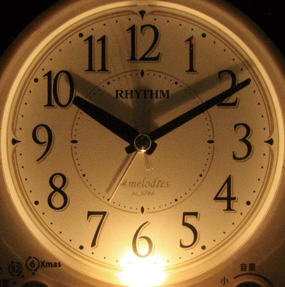 RHYTHM コンパクト 目覚まし時計 アリアカンタービレ 4RM763SR03