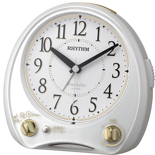 コンパクト RHYTHM リズム 目覚まし時計アリアカンタービレ 4RM763SR03