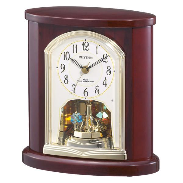 RHYTHM リズム 電波 置き時計 パルロワイエR681SR 4RY681SR06