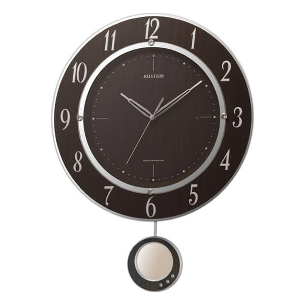 RHYTHM リズム 電波 振り子 掛け時計 トライメテオDX 8MX403SR23