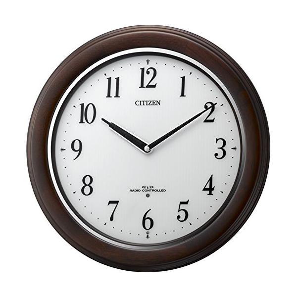 CITIZEN シチズン 木製 夜光 電波 掛け時計 リバライトW495 8MY495006