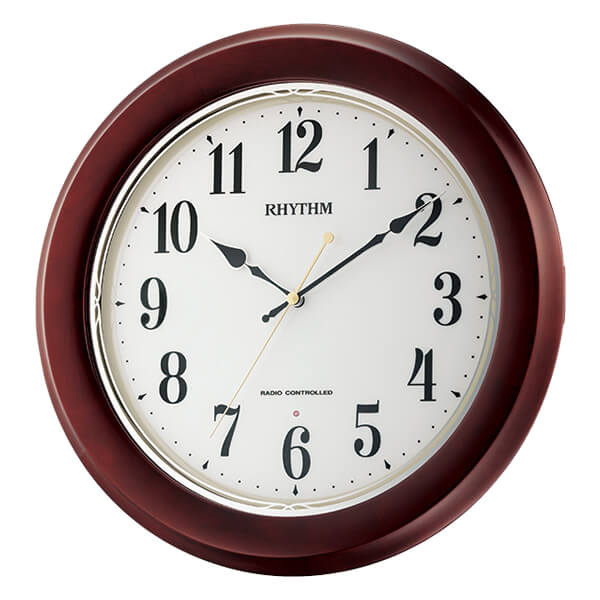 RHYTHM リズム 電波 掛け時計 フィットウェーブノア 8MY504SR06