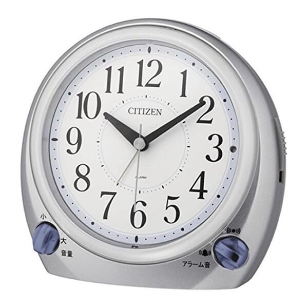 CITIZEN シチズン 目覚まし時計 デュアルトーンR633F 8RA633N19 シルバーメタリック