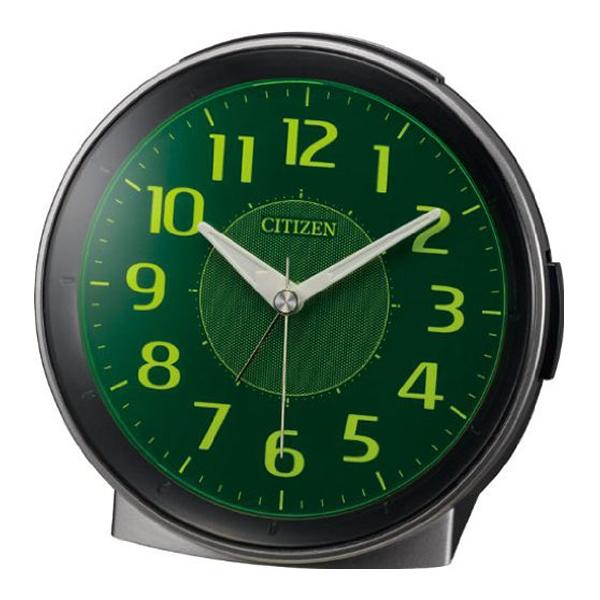 CITIZEN シチズン 夜光 目覚まし時計 サイレントミグR654 8RE654008 グレー(集光樹脂)