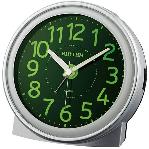 RHYTHM リズム 電波 目覚まし時計 ピュアライトR663 8re663sr19 シルバーメタリック