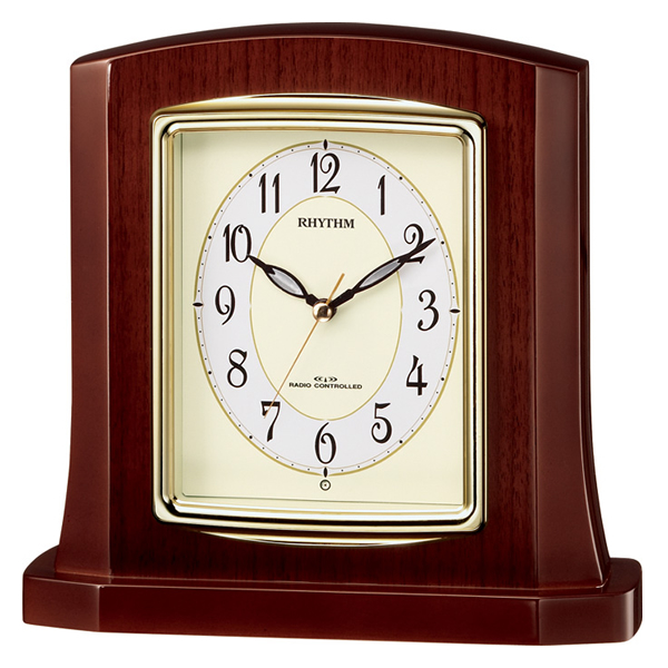 RHYTHM リズム 電波 置き時計 パルロワイエR406SR 8RY406SR06