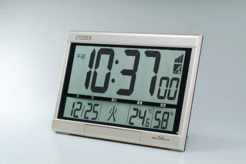 CITIZEN シチズン デジタル 電波 掛け置き兼用時計 パルデジットR062 8RZ062018 置いた状態