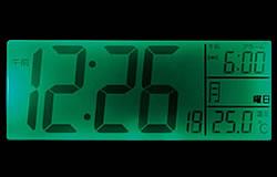 お好みに合わせて 日付/時刻の切替表示
