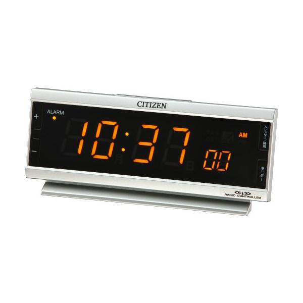 CITIZEN シチズン デジタル 電波 置き時計 パルデジットピュア 8RZ099019