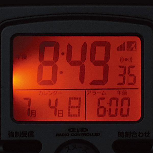 CITIZEN シチズン デジタル 電波 音声アラーム 置き時計 パルデジットガイド 8RZ109019 残照機能ライト付