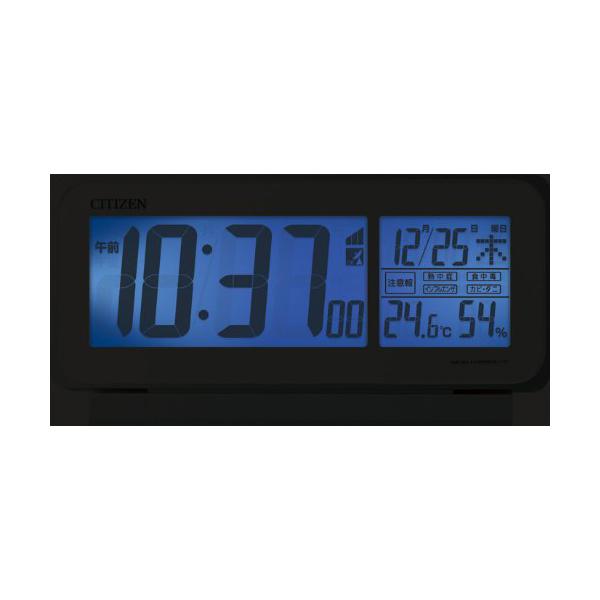 CITIZEN シチズン デジタル 電波 置き時計 スマートコートピュア 8RZ141003 自動点灯ライト