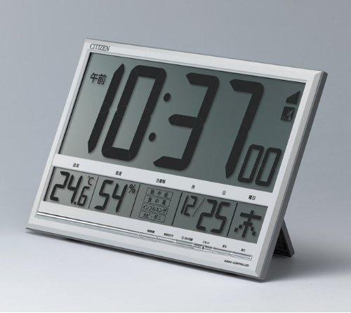 CITIZEN シチズン デジタル 電波 掛け置き兼用時計 ペールナビ 8RZ147003 置いた状態