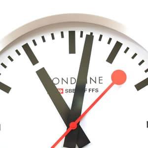 モンディーン鉄道掛け時計 A995CLOCK16SBB 文字盤