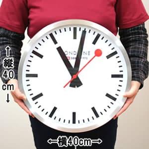 モンディーン鉄道掛け時計 A995CLOCK16SBB サイズ