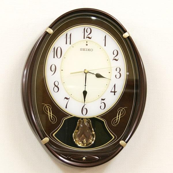 セイコー 電波からくり掛け時計 ウェーブシンフォニー【AM248B】 ZOOM