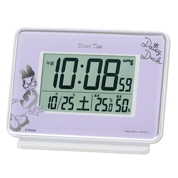 SEIKO セイコー ディズニーキャラクター デジタル 電波 目覚まし時計 デイジーダック FD467Z