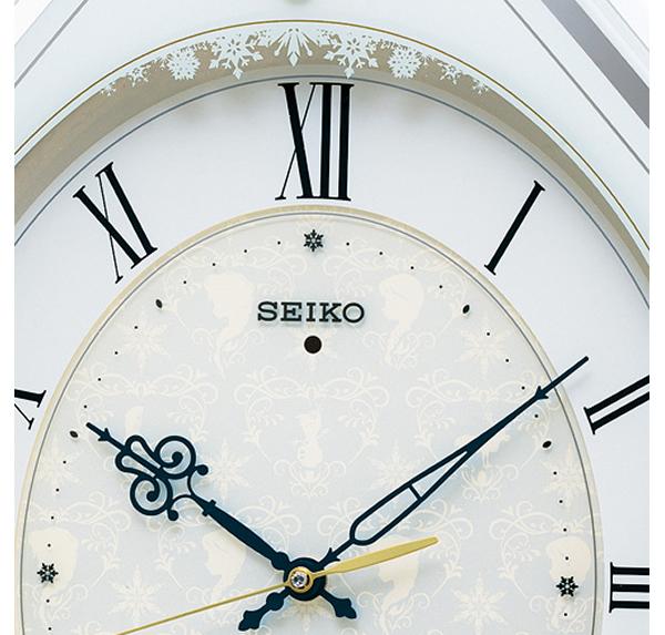 SEIKO セイコー ディズニーキャラクター 電波 アミュージング 掛け時計 アナと雪の女王 FS505W 文字盤