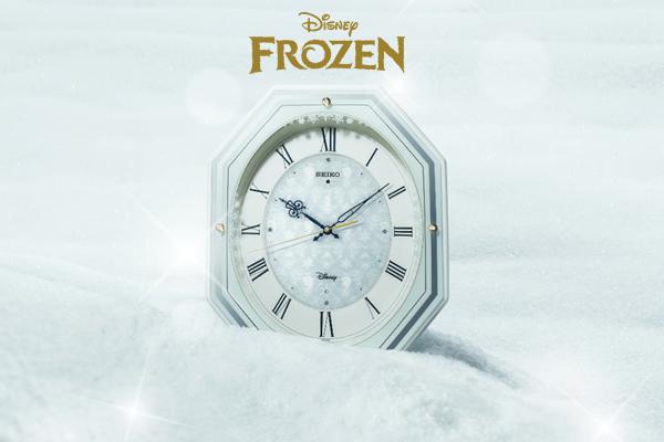 SEIKO セイコー ディズニーキャラクター 電波 アミュージング 掛け時計 アナと雪の女王 FS505W
